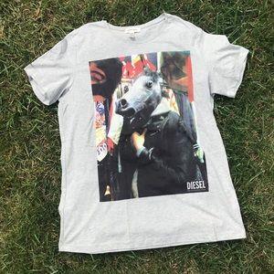 Diesel Horse Head Graphic T-Shirt RARE EUC